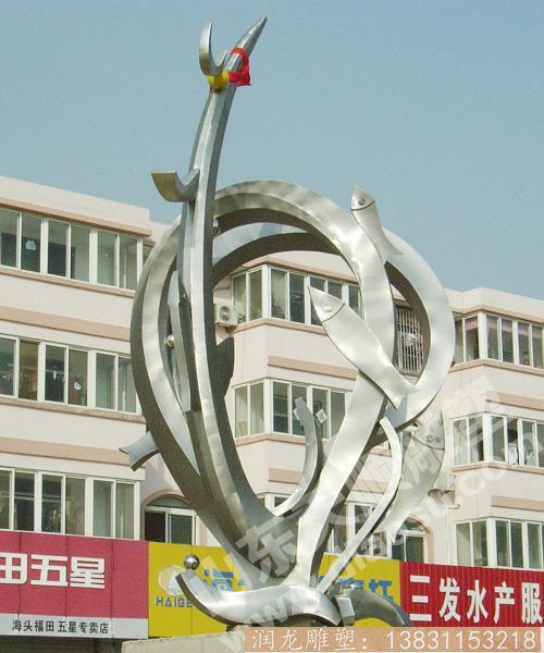 不锈钢小区景观雕塑